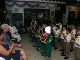 Fiore School in the Philippines - Steve Heintz and Ayo Reyes were treated to a special song and dance during their visit
