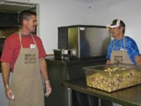 Denver Family Shelter - Scott Gilfert working with other volunteers at a Denver rescue mission