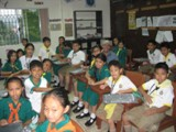 Fiore School in the Philippines - Steve Heintz visits with students at Fiore School